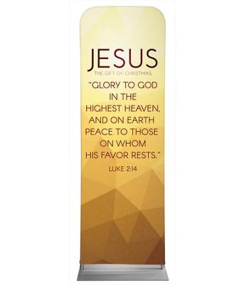 Advent Luke 2 Jesus 2' x 6' Fabric Sleeve Banner  -