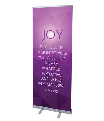Advent Luke 2 Joy (31 inch x 79 inch) RollUp Banner  -