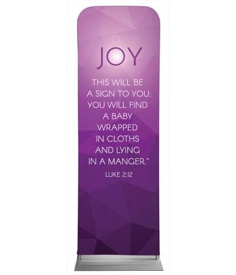 Advent Luke 2 Joy 2' x 6' Fabric Sleeve Banner  -