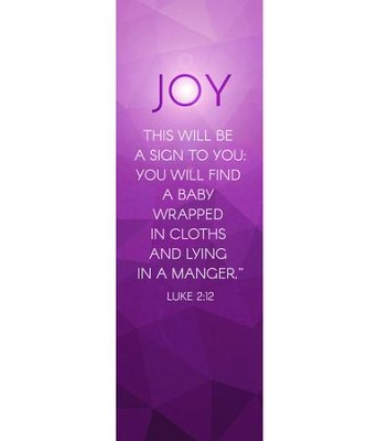 Advent Luke 2 Joy (2' x 6') Vinyl Banner  -