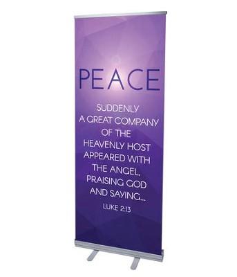 Advent Luke 2 Peace (31 inch x 79 inch) RollUp Banner  -