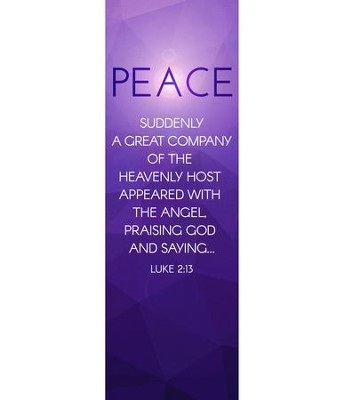 Advent Luke 2 Peace (2' x 6') Vinyl Banner  -