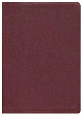 NAS Giant Print Reference Bible, Genuine leather, Burgundy   -