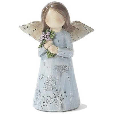Angel, with Flower Bouquet Figure  -