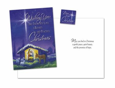 Nativity Christmas Card with Magnet, Package of 18  -