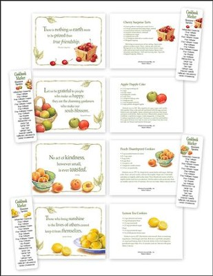 Recipe Note Cards with Cookbook Markers, Set of 12  -