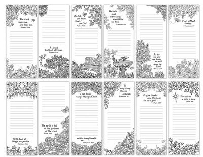Coloring Art Memo Pads, Pack of 12  -