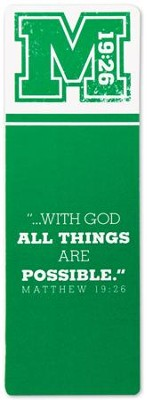 With God All Things Are Possible Bookmark  -