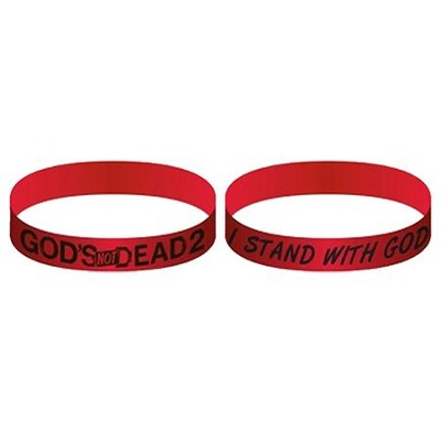 God's Not Dead 2, Silicone Bracelet, Red  -