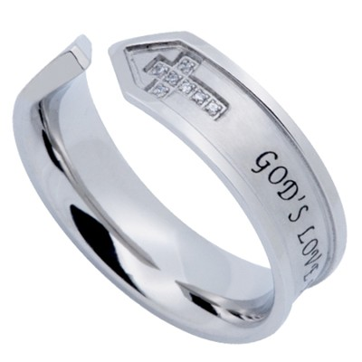 God's Love Nexus Women's Ring, Size 5 (1Corinthians 13:8)  -