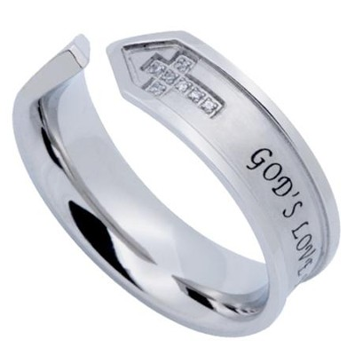 God's Love Nexus Women's Ring, Size 7 (1Corinthians 13:8)  -