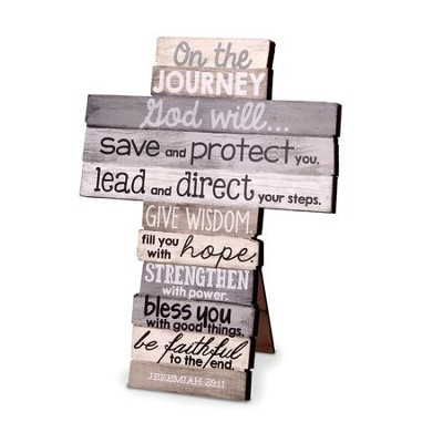 Journey Stacked Words Cross, Small  -