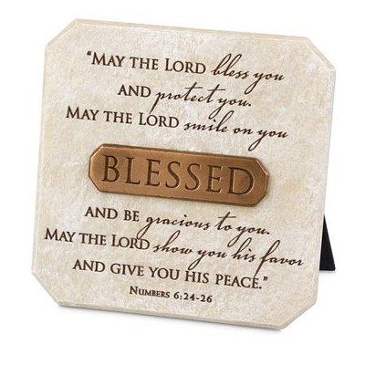 Blessed Plaque, Bronze Bar  -