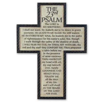 Psalm 23 Cross  -