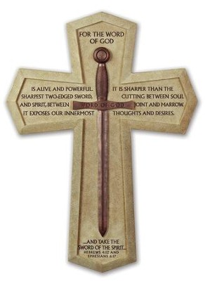 Word of God, Sword Wall Cross, X-Large  -