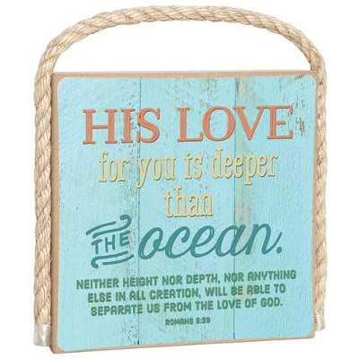His Love For You Is Deeper Than the Ocean Plaque  -