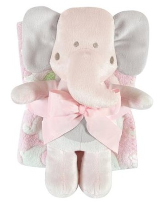 Elephant Blanket and Toy Set, Pink  -