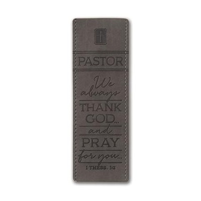 Thank You Pastor Bookmark, Gray, 1 Thessalonians 1:2  -