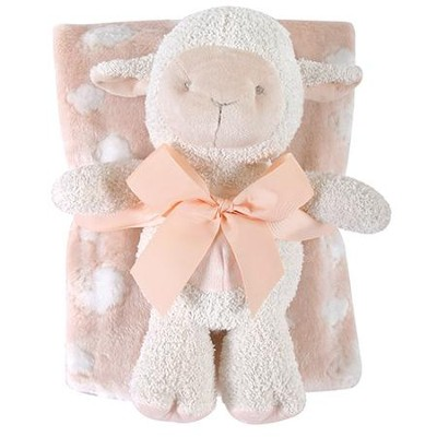 Lamb Blanket and Toy Set, Pink  -