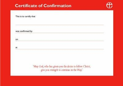Confirmation Certificates  -