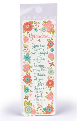 Grandma, You Have Greatly Encouraged Me Bookmark  -