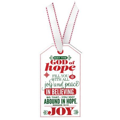 Joy, Christmas Tag Ornament (Rom 15:13)  -