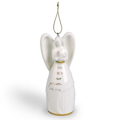 Our Peace (Eph. 2:14), Angel Bell Ornament  -