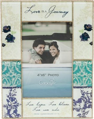 Love is a Journey, Glass Photo Frame  -