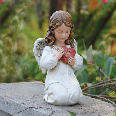 Angel with Heart Statue  -