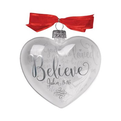 Believe (John 3:16), Reflecting God's Love Ornament  -