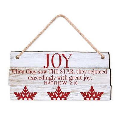 Joy, When They Saw the Star, They Rejoiced, Rustic Ornament  -