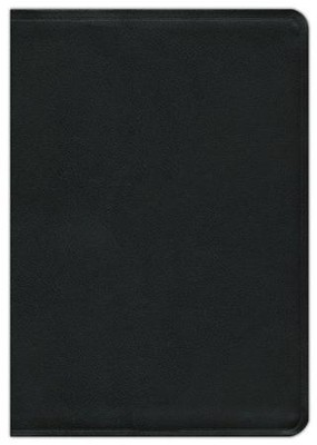 NASB Giant-Print Reference Bible, Genuine leather, Black  Black-indexed  -