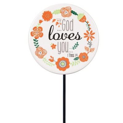 God Loves You Floral Pick  -