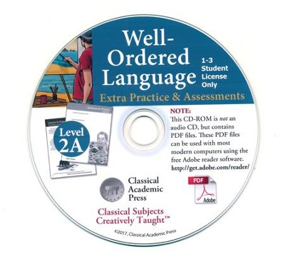 Well-Ordered Language 2A: The Curious Child's Guide to Grammar, Extra Practice/Assessments PDF CD-ROM  -     By: Tammy Peters, Daniel Coupland Ph.D.