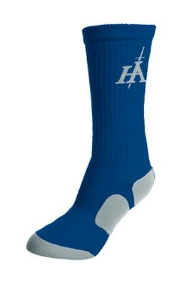 His Armor Sport Socks, Blue and Gray  -
