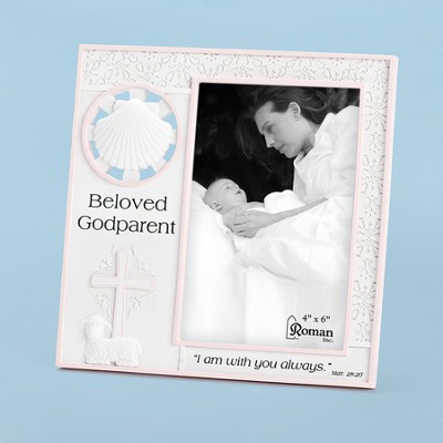 Beloved Godparent Photo Frame, Pink  -