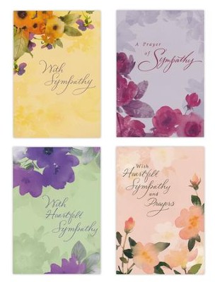 Sympathy, Watercolors Cards, Box of 12  -