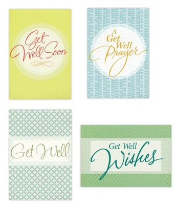 Get Well, Large Print Cards, Box of 12  -