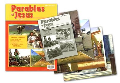 Abeka Parables of Jesus 1 Flash-a-Card Set (for use with The  Light Junior Sunday School Curriculum)  -