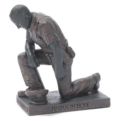 Police Officer, Prayer Figurine                        -