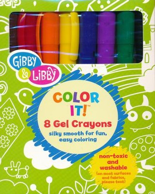 Color It! 8 Primary Colors Gel Crayons   -