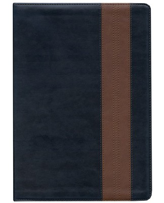 ESV Study Bible, TruTone, Navy/Tan, Band Design - Slightly Imperfect  -