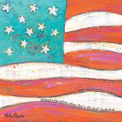 Whimsical Flag, Canvas Plaque  -