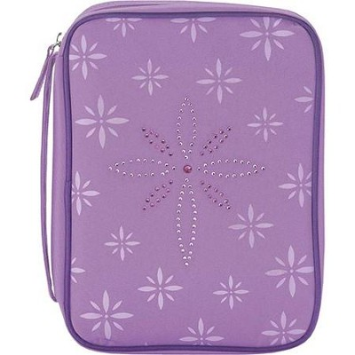 Bedazzled Cross Bible Cover, Purple, Medium  -