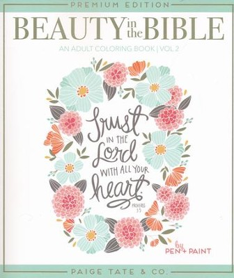 Beauty in the Bible: Adult Coloring Book Volume 2 (Premium)  -