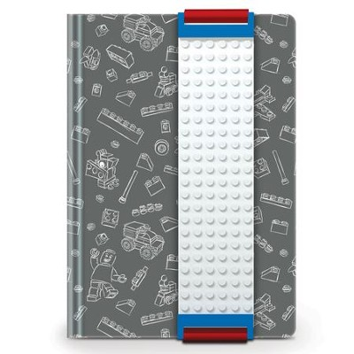 LEGO Journal with Building Band, Gray  -
