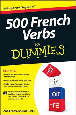 500 French Verbs For Dummies  -