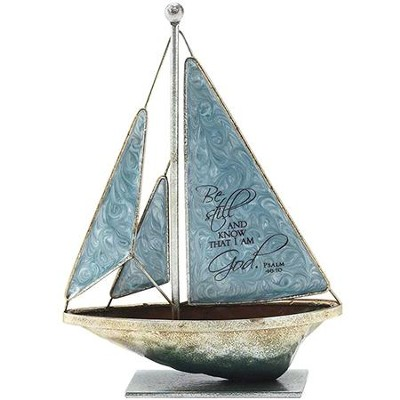 Be Still and Know Metal Sailboat, Small  -