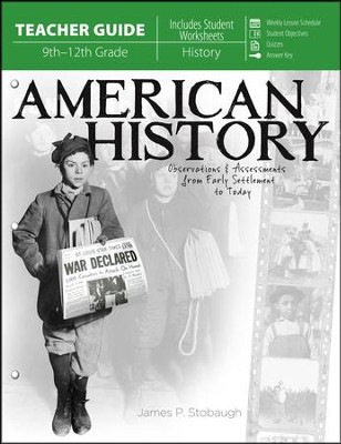 American History: Observations and Assessments from Creation to Today, Teacher Guide   -     By: James Stobaugh