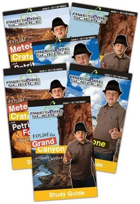 Explore with Noah Justice DVD Pack with Study Guides: Episodes 1-3, Awesome Science Series  -